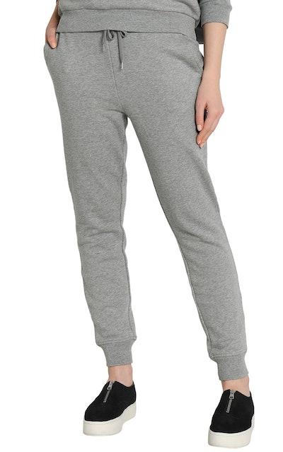 Mélange Cotton-Blend Track Pants