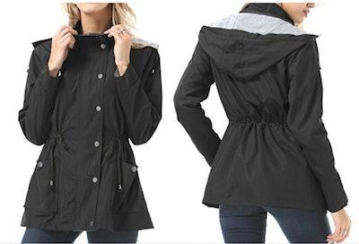FISOUL Raincoats Waterproof Lightweight Rain Jacket