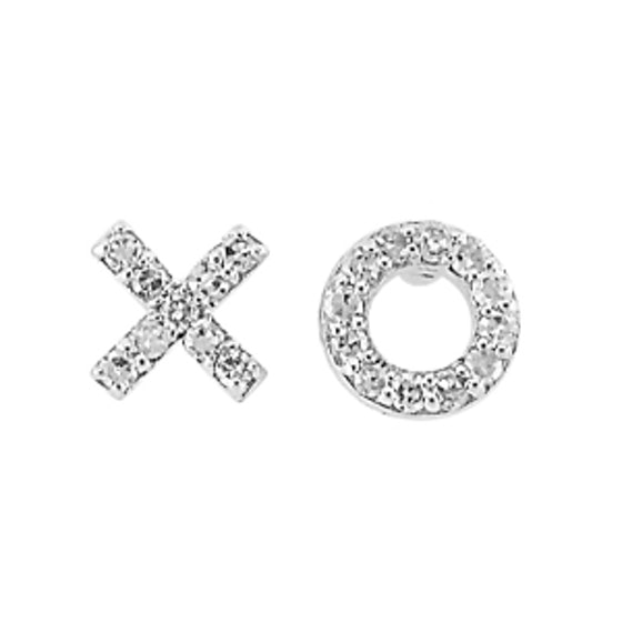 """XO"" Diamond Earrings"