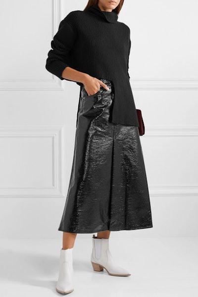 Latona Vinyl Midi Skirt