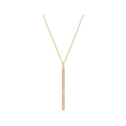 Diamond Long Stick Pendant Necklace