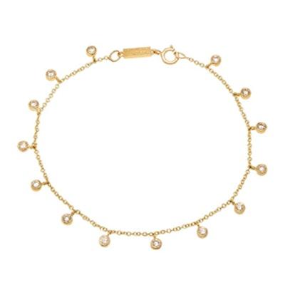 Mini Diamond Bezel Dangle Bracelet