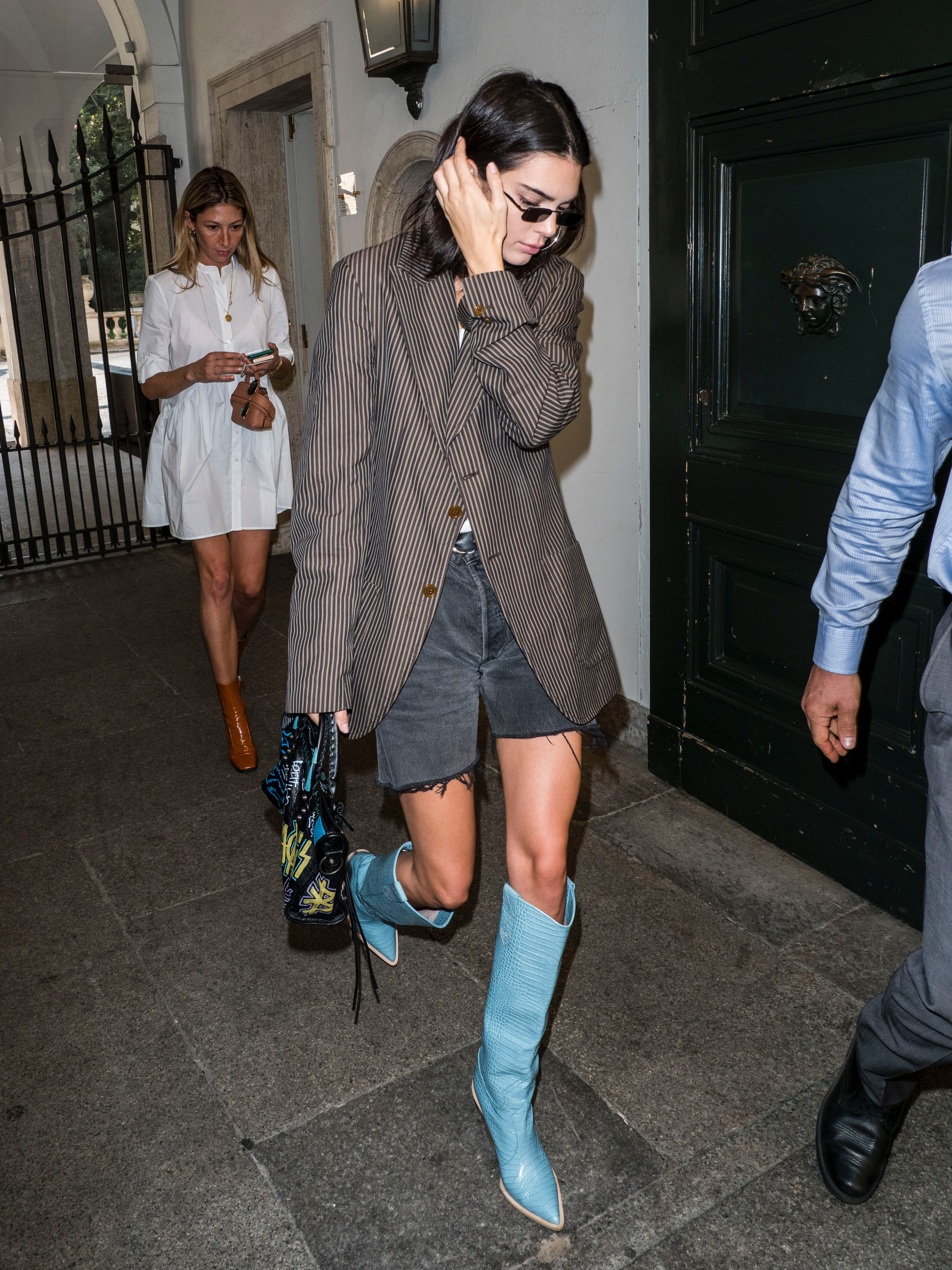 Kendall Jenner's Blue Cowboy Boots Are