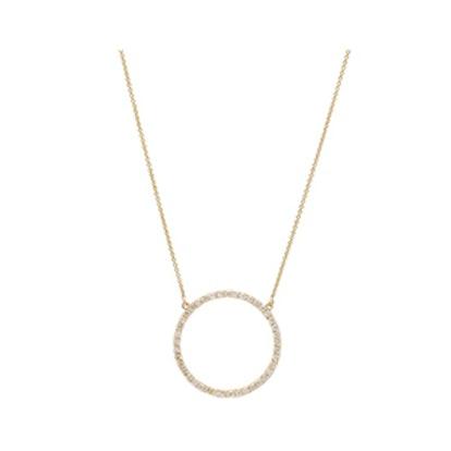 Diamond Open Circle Necklace
