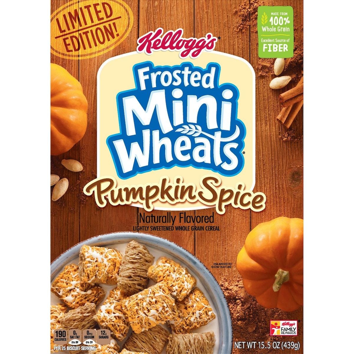 Frosted Mini Wheats Pumpkin Spice Breakfast Cereal