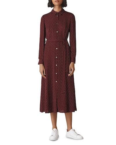 Margot Dot Shirt Dress