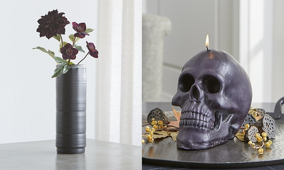 crate and barrels halloween decorations for 2018 are sophisticated goth goals
