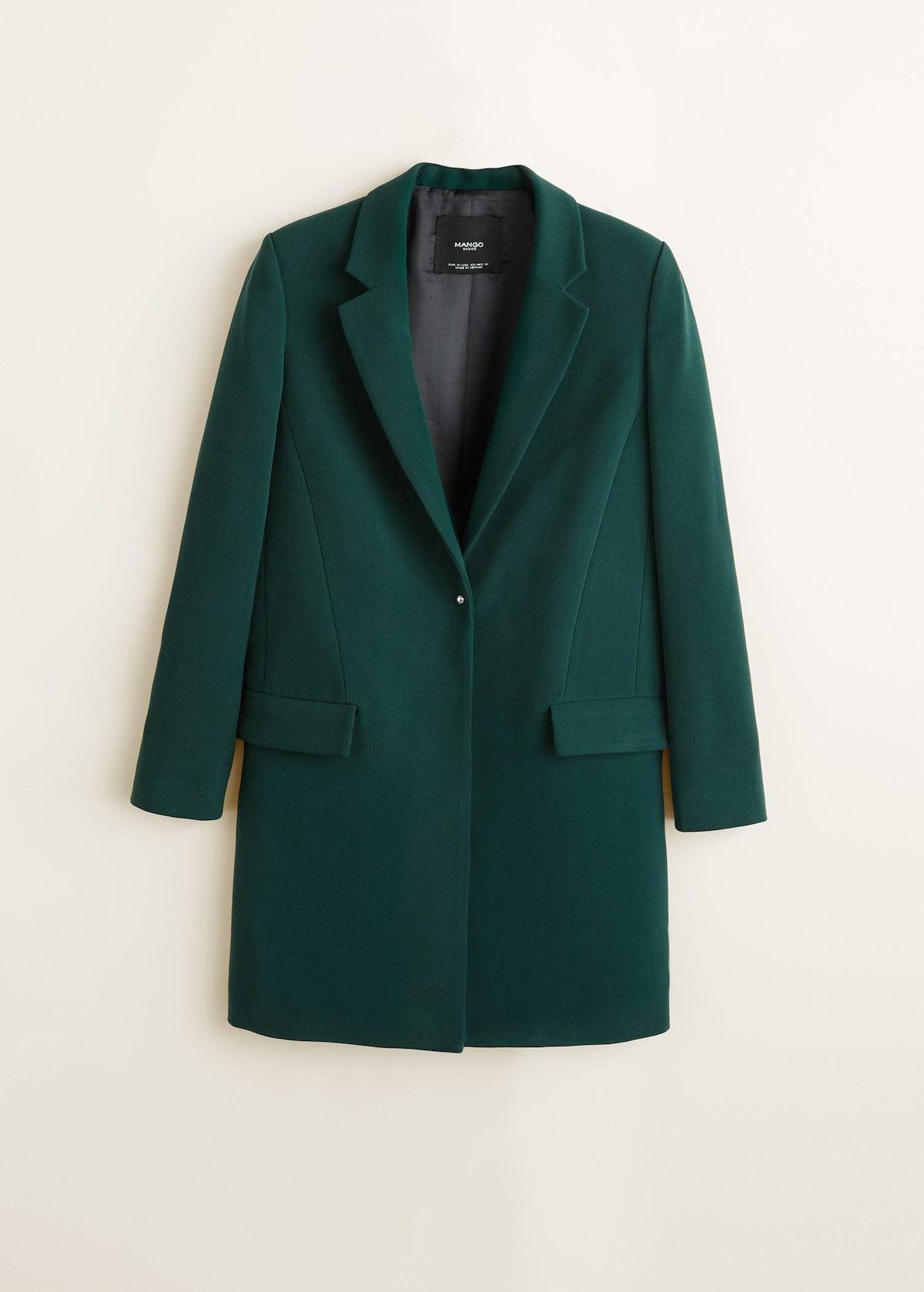 Lapels Structured Coat