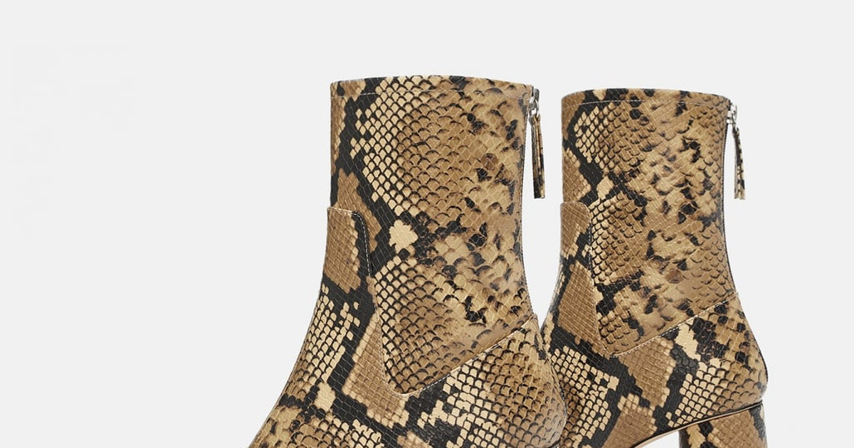 Brown snake boots