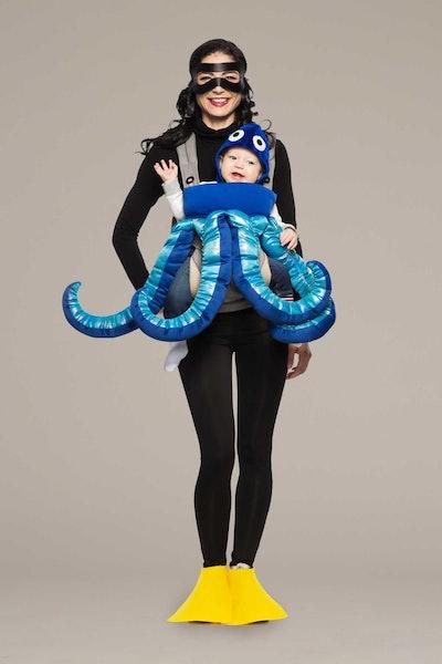 Scuba Diver & Octopus