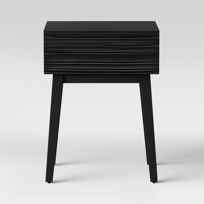 Palmetto Cut and Groove Side Table Black