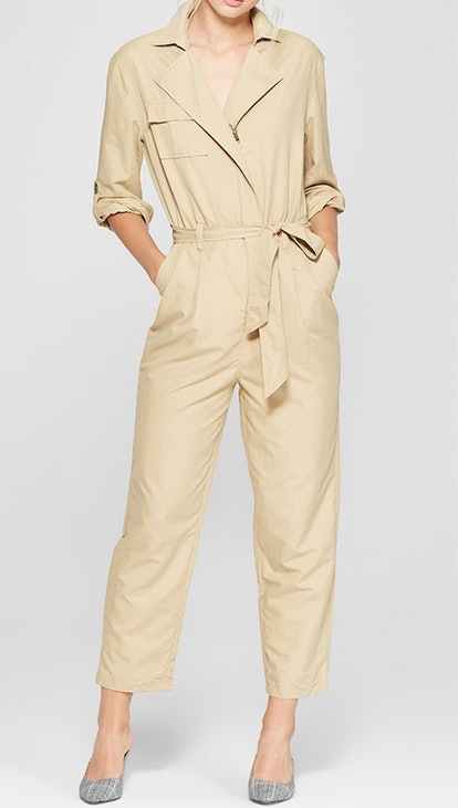 Women's Long Sleeve Utility Jumpsuit