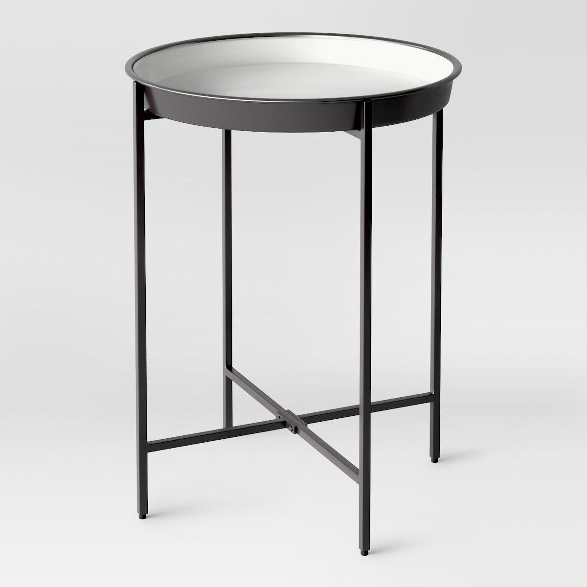 Pradet Tray Accent Table Black/White
