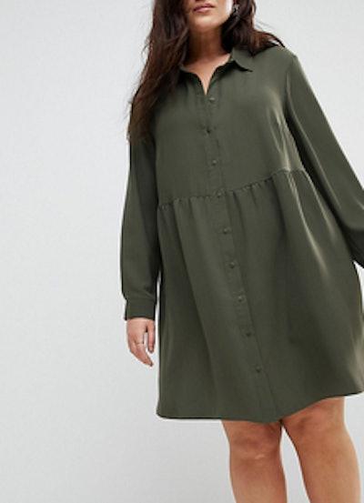 Smock Shirt Mini Dress