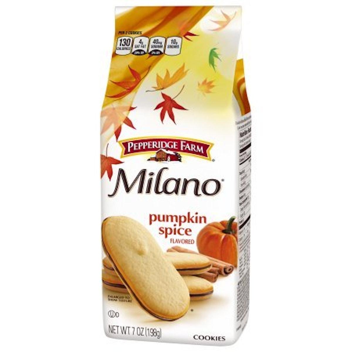 Pepperidge Farm Milano Cookies Seasonal Pumpkin Spice Cookie