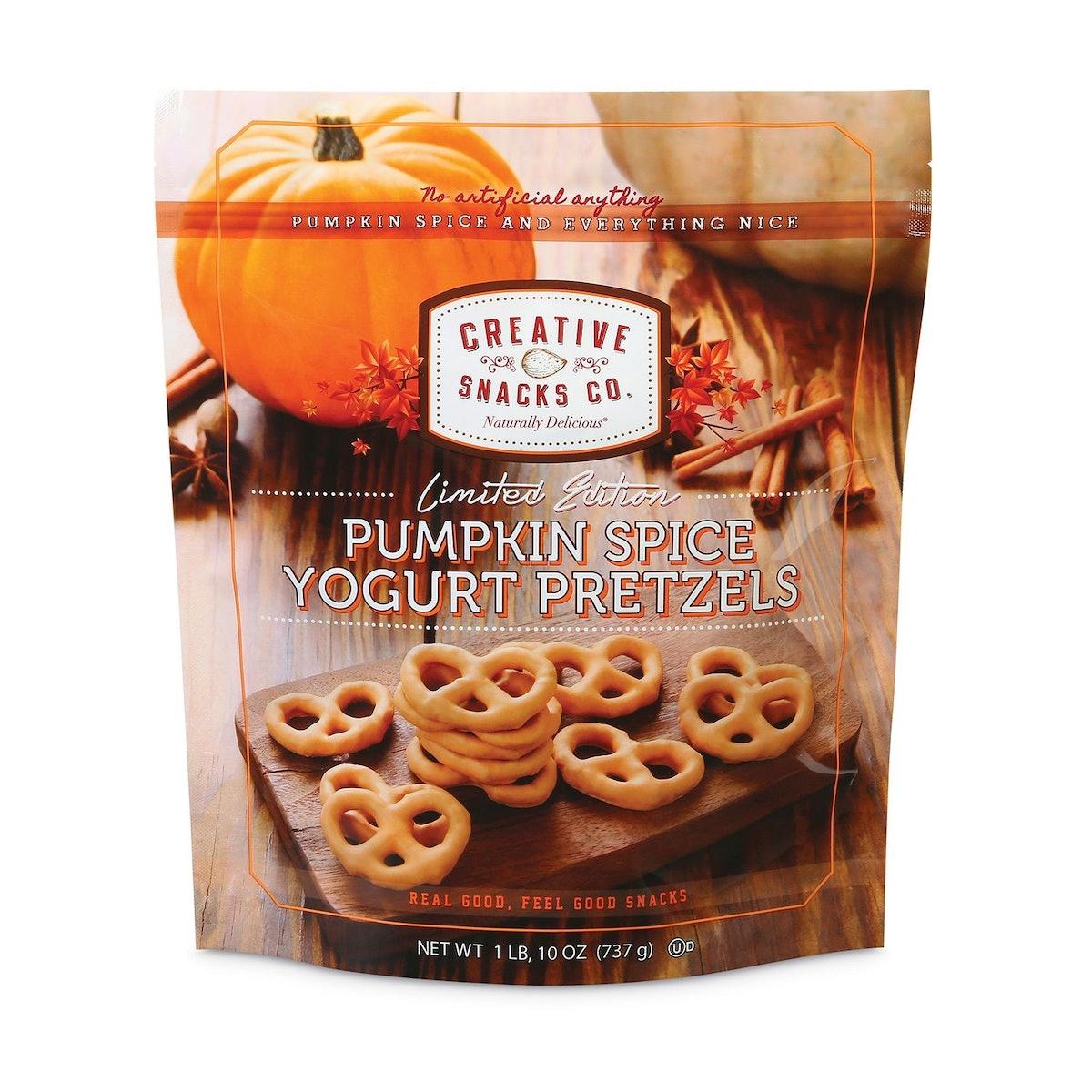 Pumpkin Spice Yogurt Pretzels