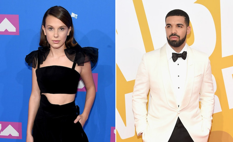 Image result for millie bobby brown and drake