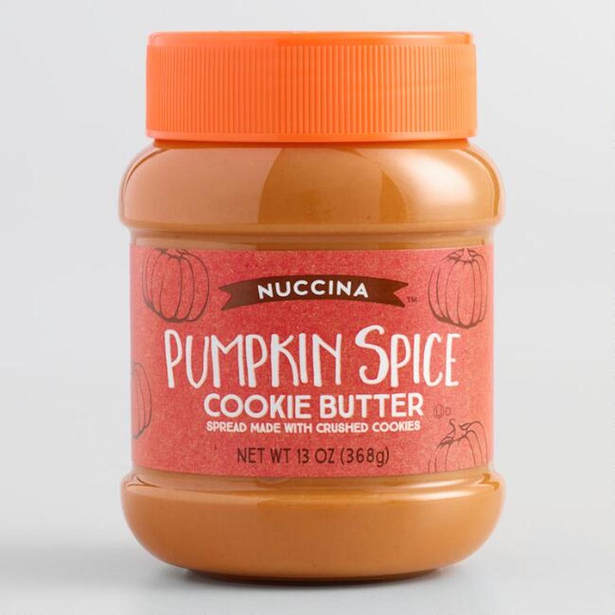 Nuccina Pumpkin Spice Cookie Butter Spread