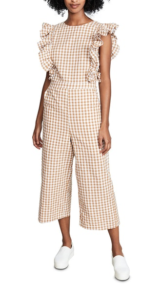 Sleeveless Jumpsuit with Ribbon