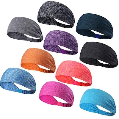 DASUTA Women's Sport Headband (10-Pack)