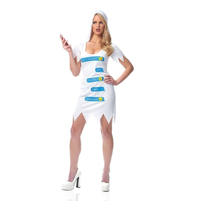 Womens Ghosted Costume