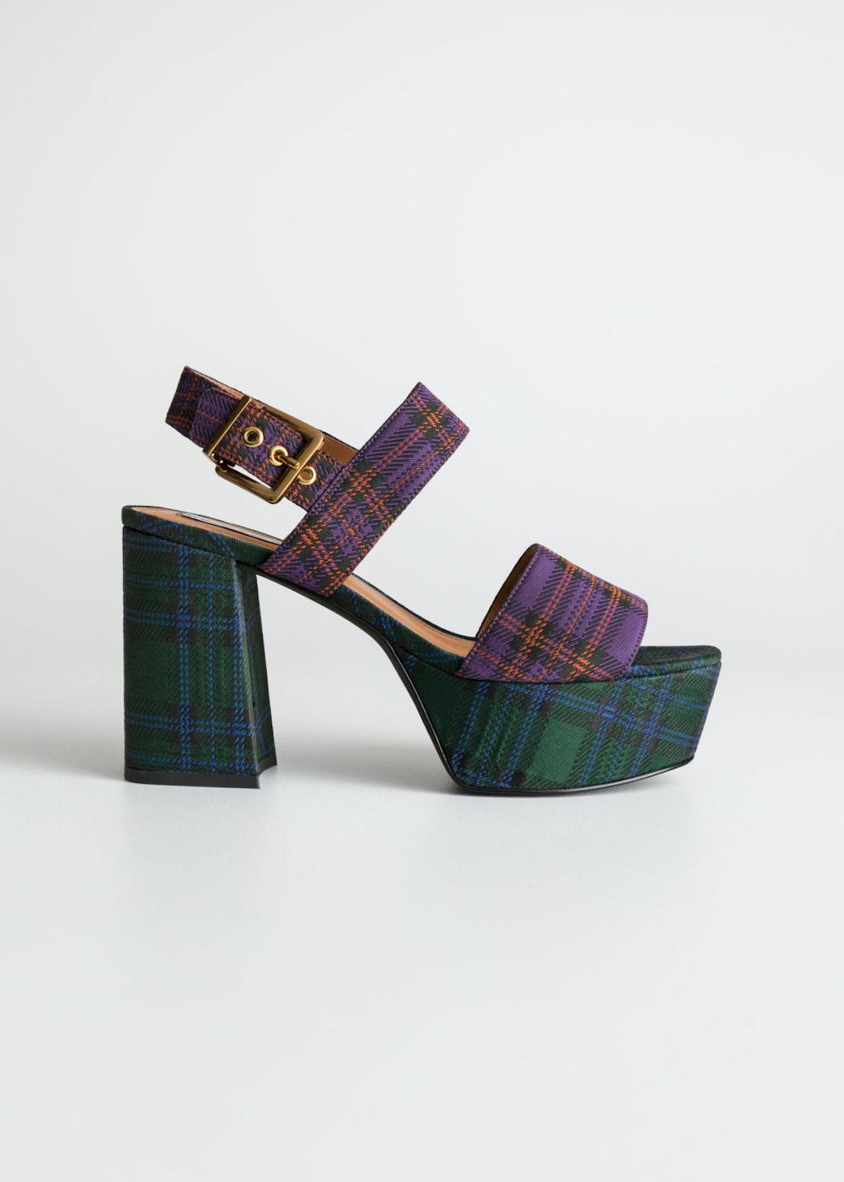 Duo Plaid Platform Heels