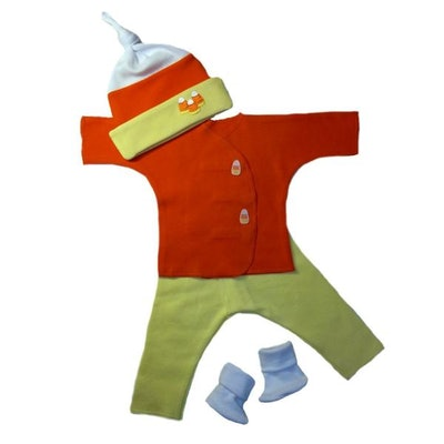 Unisex Baby Candy Corn Halloween Clothing Set