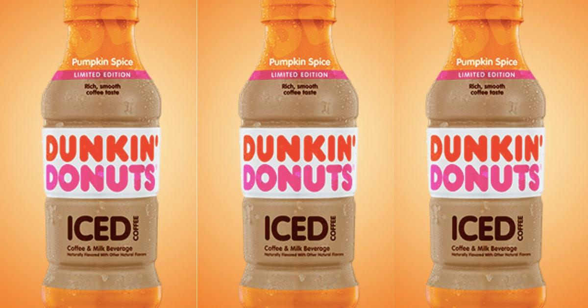 Dunkin' Donuts' Pumpkin Spice Bottled Iced Coffee Is ...