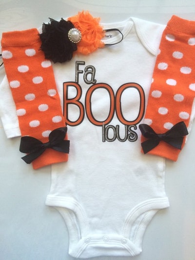 Baby Girl Halloween Outfit - Fa-BOO-Lous