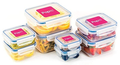 Popit! Food Storage Containers, Set Of 8