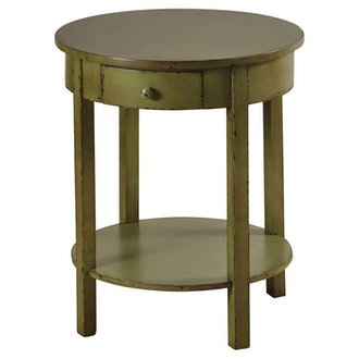 StyleCraft Round Side Table Antiqued Finish