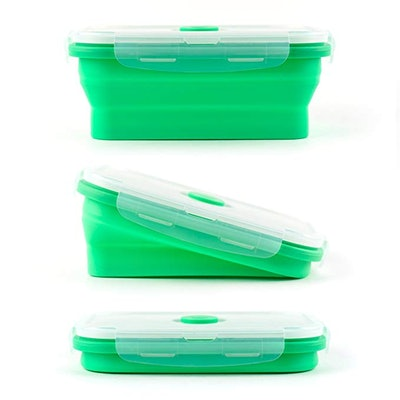 Vremi Silicone Food Storage Containers, Set Of 4