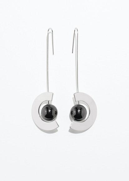 Orb Pendant Hanging Earrings