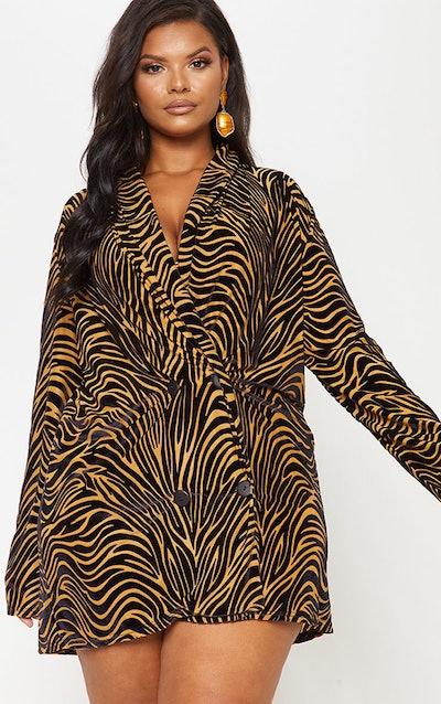 Burnout Oversized Blazer Dress