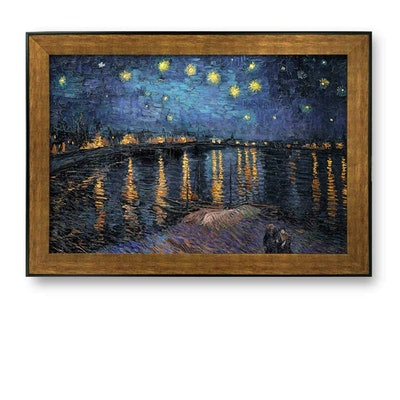 Framed Art Prints — Starry Night Over The Rhone by Vincent Van Gogh