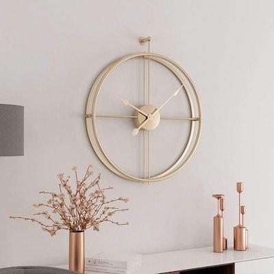 Gold European Minimalism Simple Creative Metal Wall Clock
