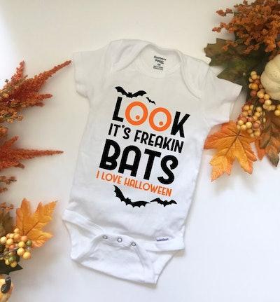 Look, It's Freakin Bats Halloween Onesie