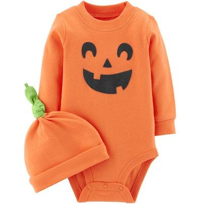 Pumpkin Bodysuit & Cap