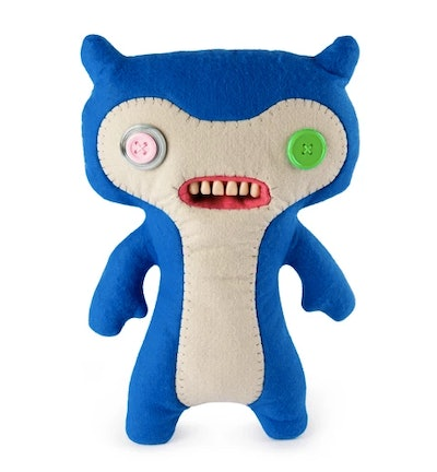 """Fuggler Funny Ugly Monster 12"""" Lil' Demon Deluxe Plush Creature with Teeth - Blue"""