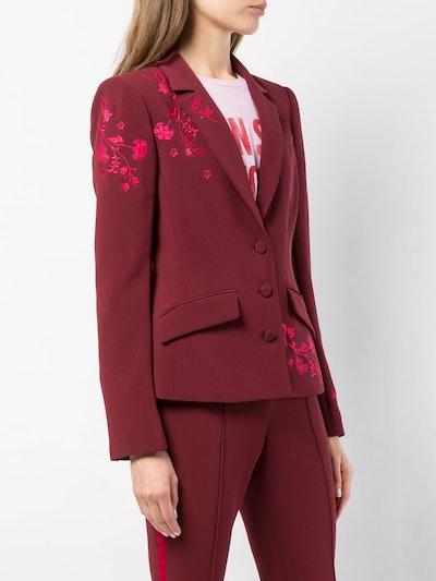 Gabrielle Floral Embroidered Blazer
