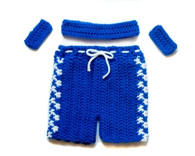 Crocheted Basketball Outfit