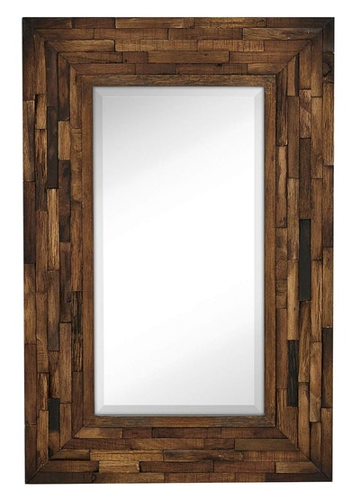 Rustic Natural Wood Framed Wall