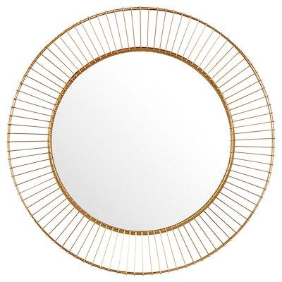 Round Iron Circle Mirror
