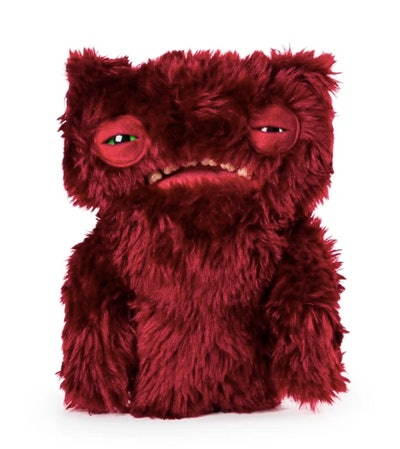 """Fuggler Funny Ugly Monster, 9"""" Wide-eyed Weirdo Plush Creature with Teeth - Burgundy"""