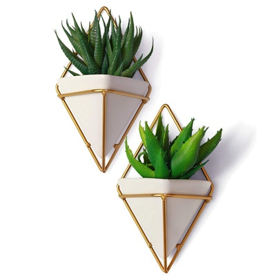 Small Decorative Geometric Hanging Planters