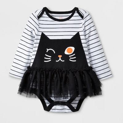 Cat Face Tulle Tutu Bodysuit Dress