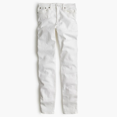 "Petite 9"" High-Rise Toothpick Jean in White"