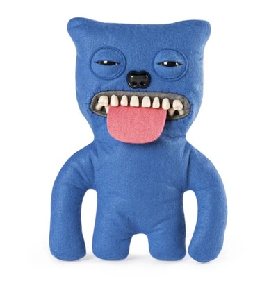 """Fuggler Funny Ugly Monster, 9"""" Sir Belch Plush Creature with Teeth - Blue"""