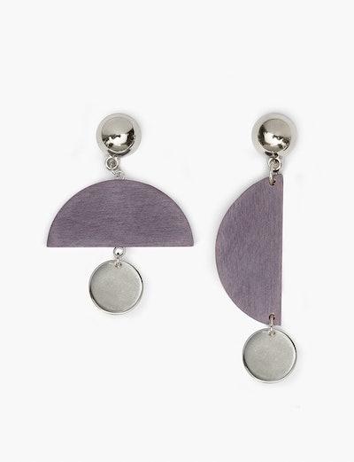 Purple Mobile Chandelier Earrings