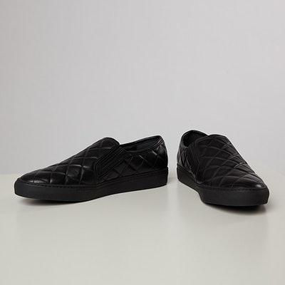 Karla Welch's Balmain Quilted Leather Loafers